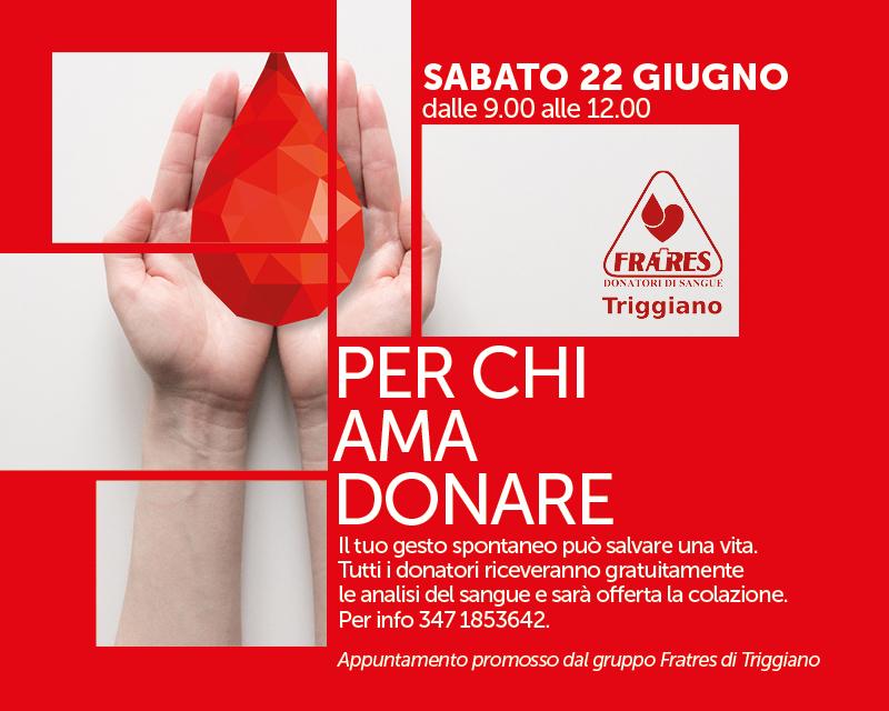 Donazione del sangue in collaborazione con Fratres