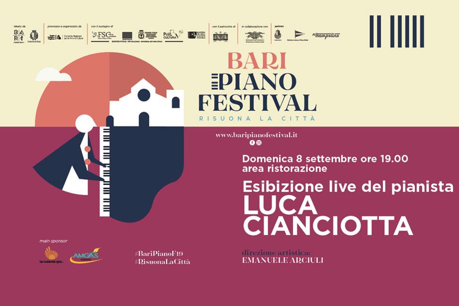 La grande musica a BariBlu: Domenica 8 settembre Luca Cianciotta in Concerto!