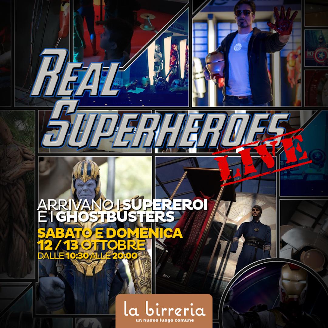 Supereroi e Ghostbusters approdano alla Birreria il 12 e 13 ottobre!