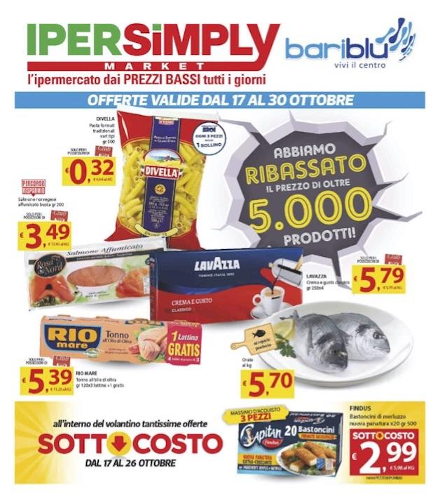 Imperdibili, Sottocosto, promozioni under 30 e over 60 all'IperSimply di BariBlu!