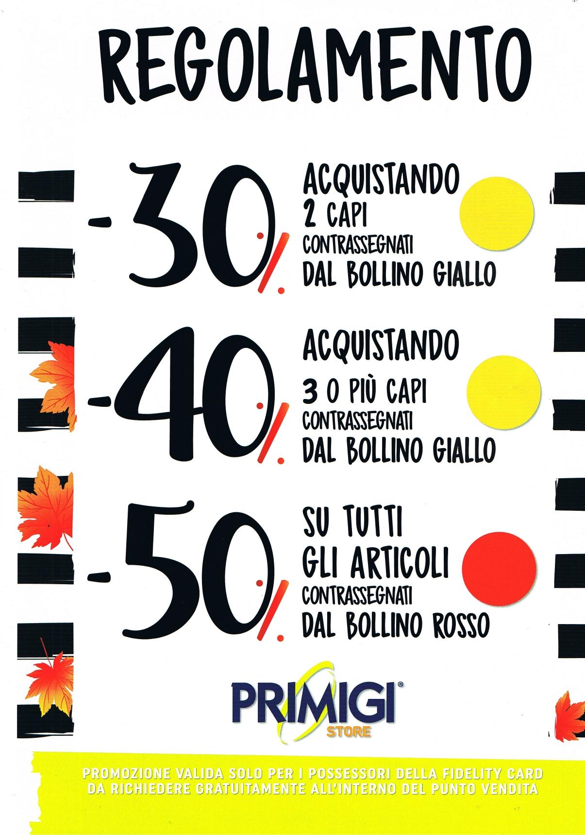 Primigi: Promozioni Bollini