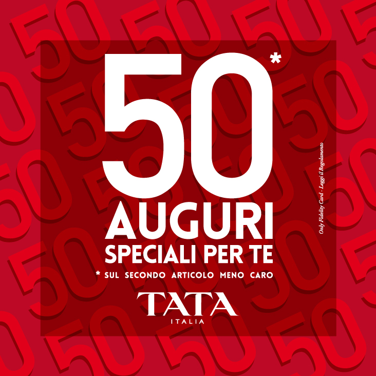 TATA: 50 anni auguri per te!