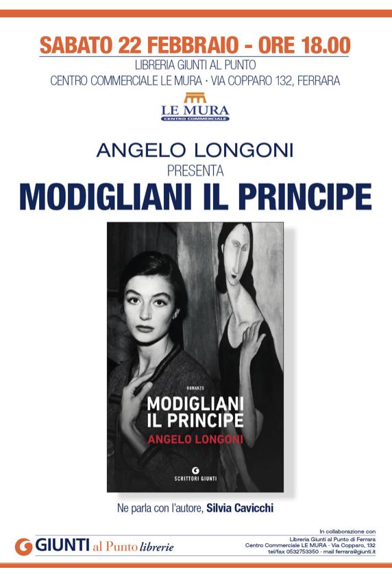 """Presentazione del libro """"Modigliani il principe"""" di Angelo Longoni"""
