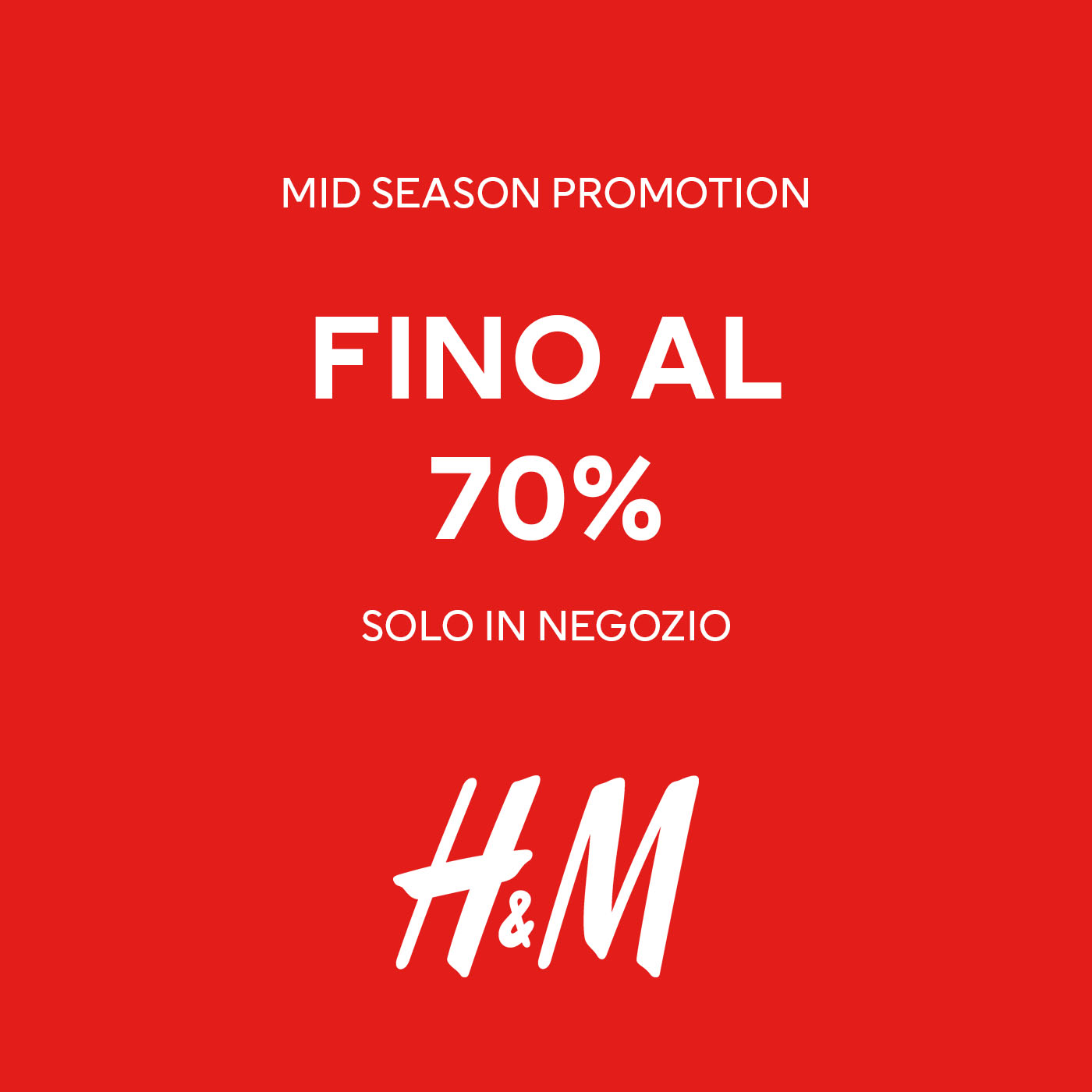 H&M: Mid Season Promotion