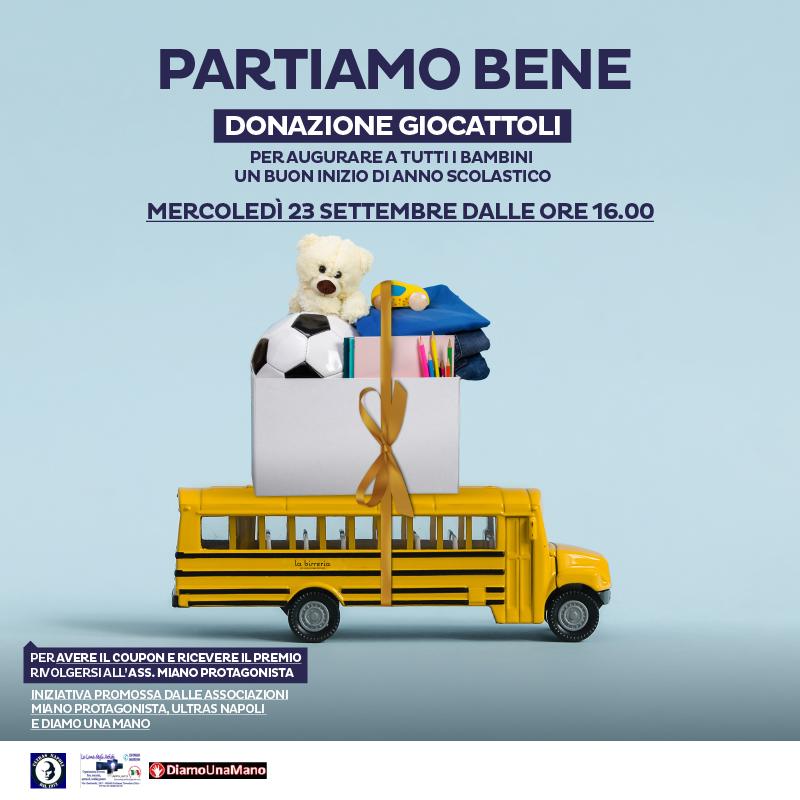 Partiamo bene: donazione giocattoli al Centro La Birreria