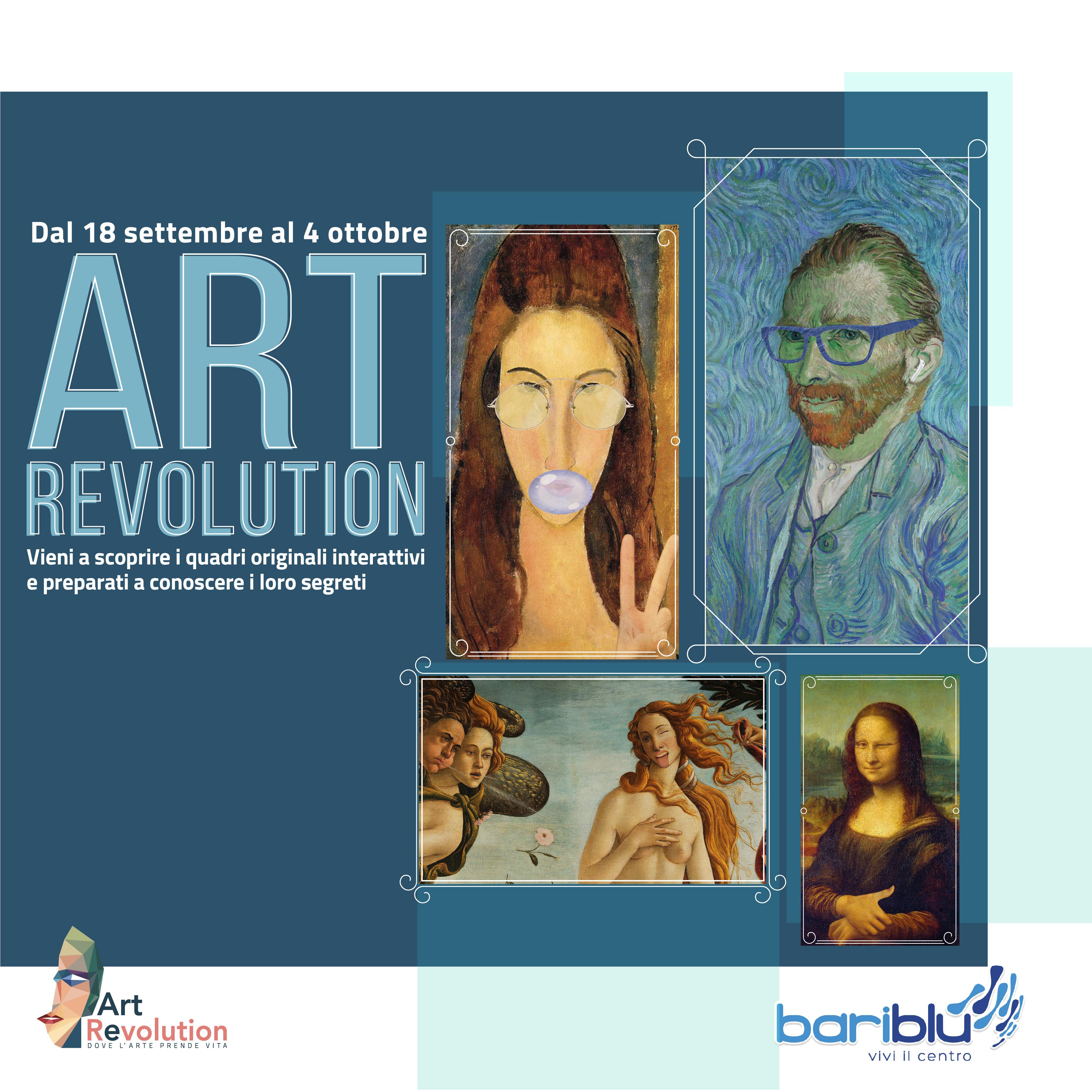 Art Revolution: La mostra virtuale e interattiva arriva a Bariblu
