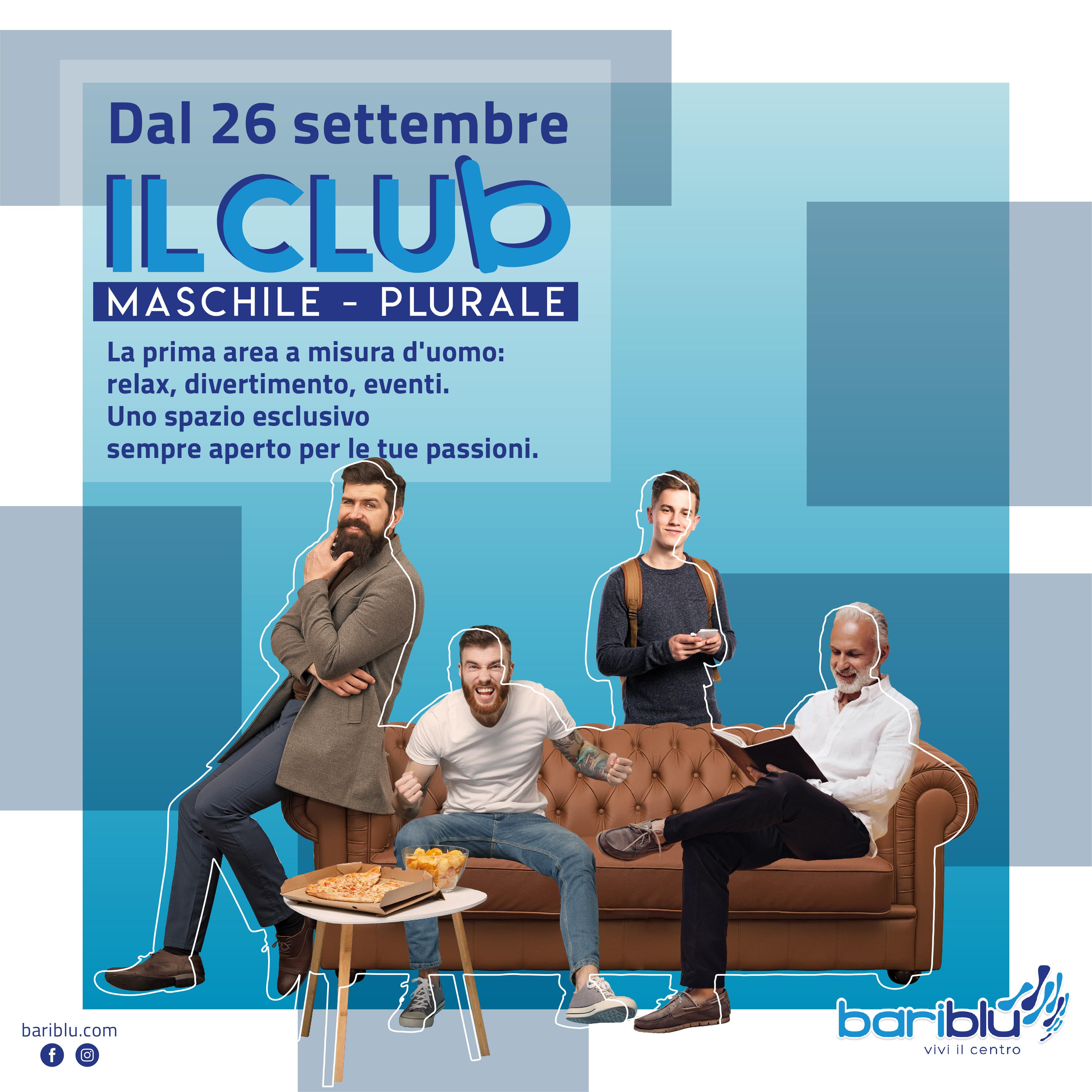 """Il Club: l'area """"a misura d'uomo"""" del centro commerciale Bariblu"""