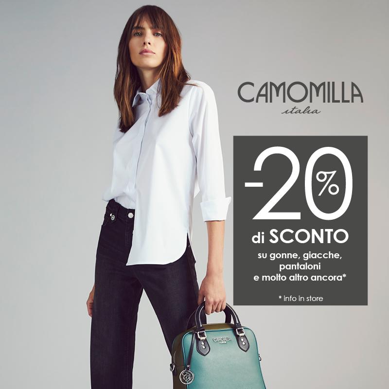 Camomilla Italia: -10% con Lovercard e -20% su Sottoreparti