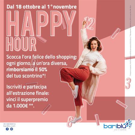 Happy Hour: Bariblu ti regala il 50% del tuo scontrino