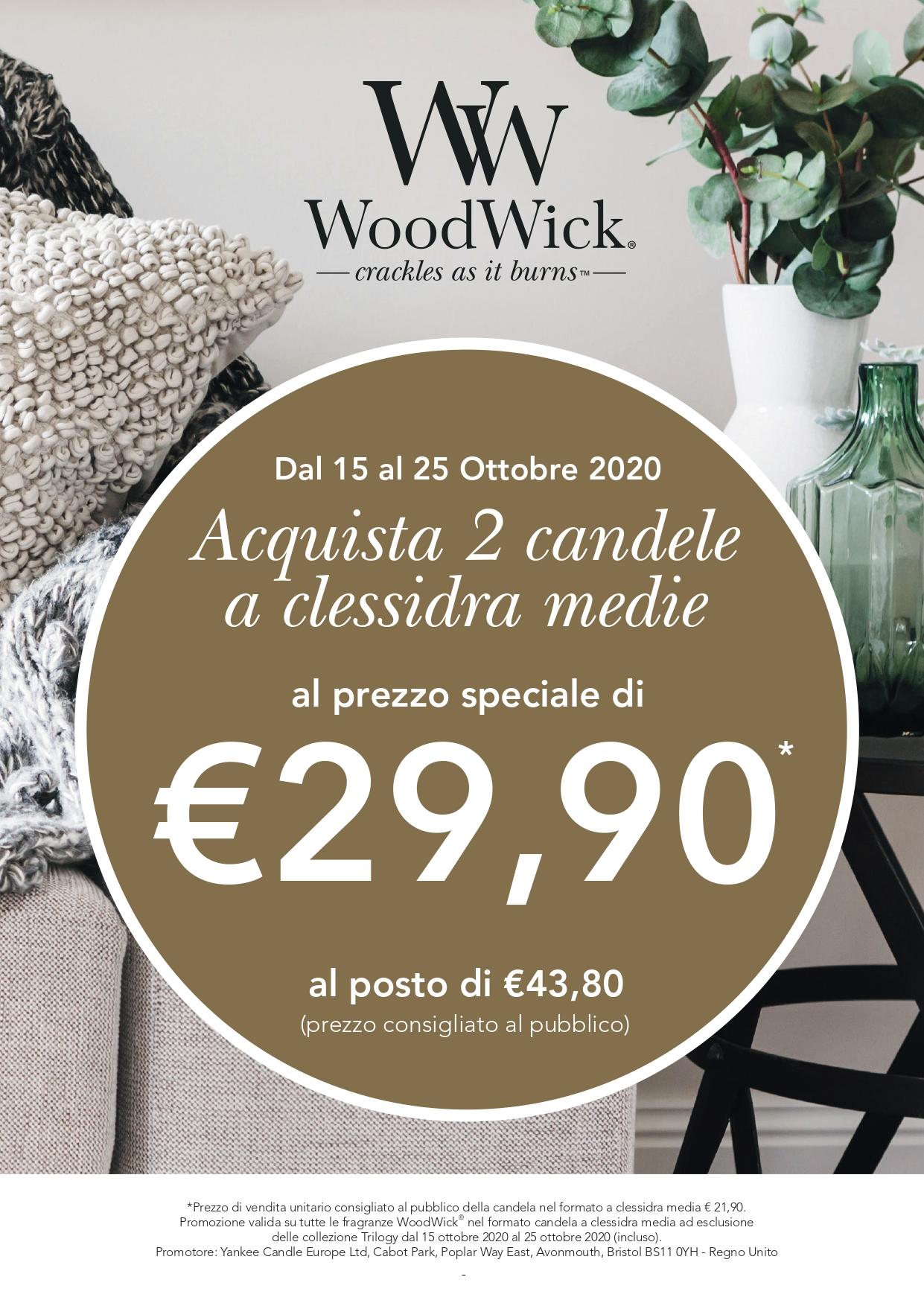 Candele WoodWick in offerta da Yankee Candle