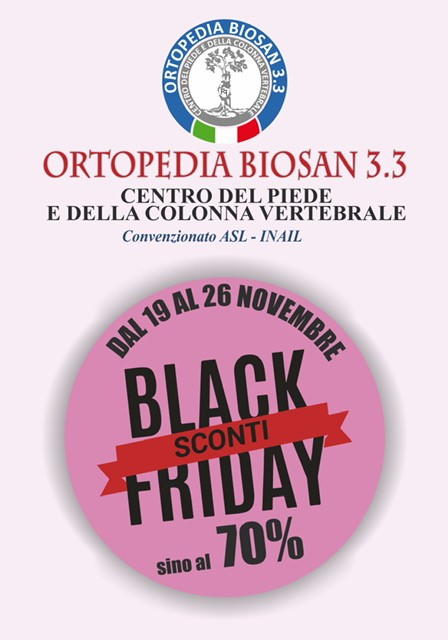 Ortopedia Biosan 3.0: Black Friday