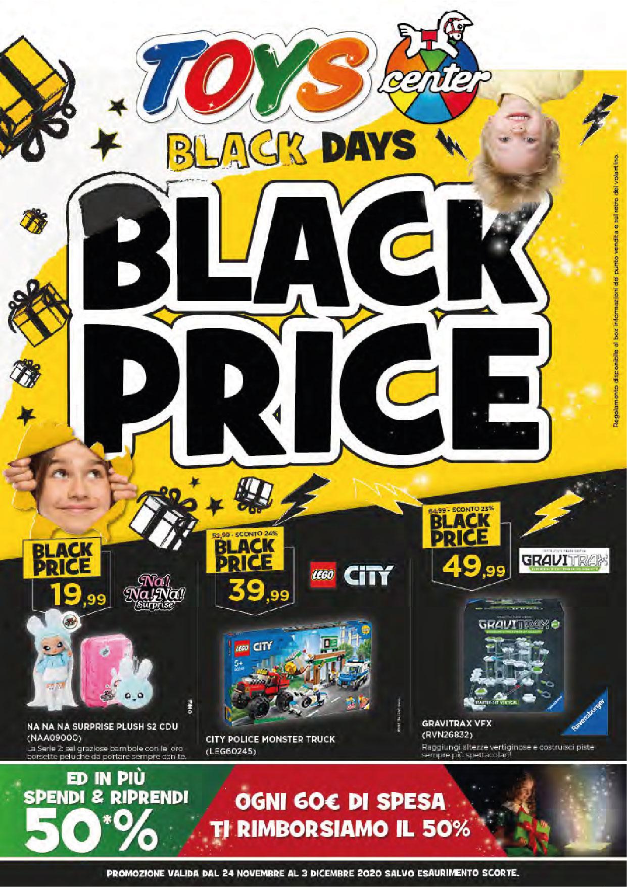 Toys Center: Black Days, Black Price!