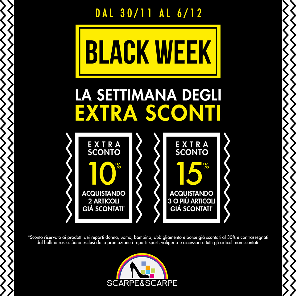 Scarpe & Scarpe: Black Week