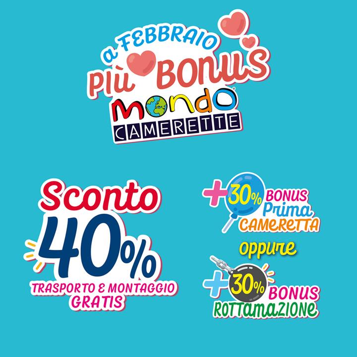 Mondo Camerette: A febbraio siamo più bonus!