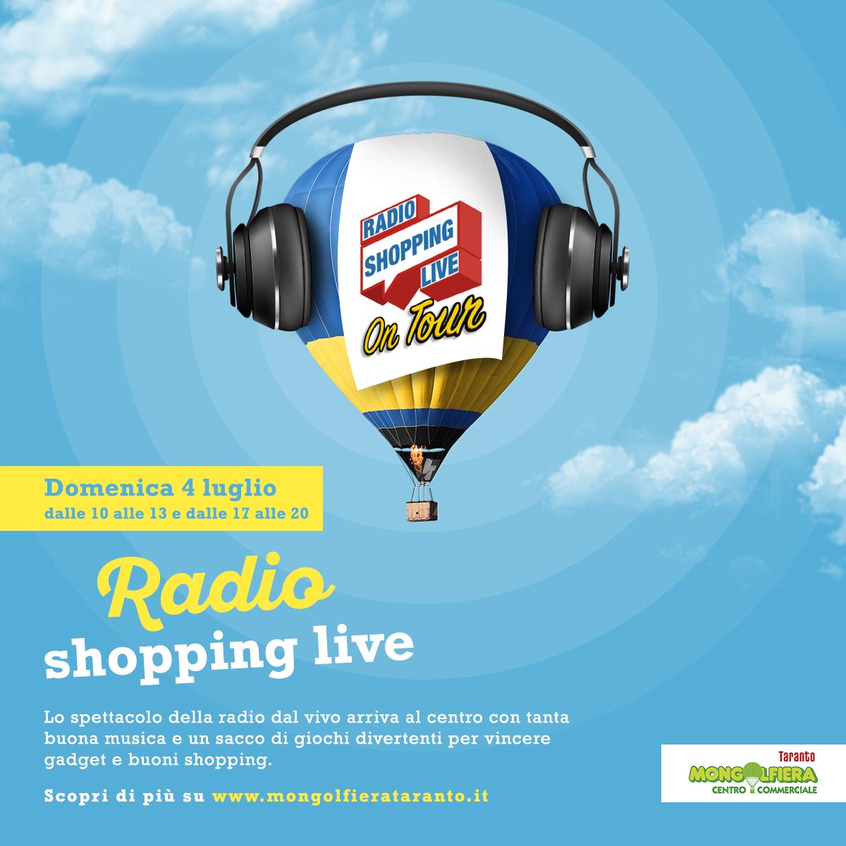 Radio Shopping Live On Tour al Mongofiera Taranto