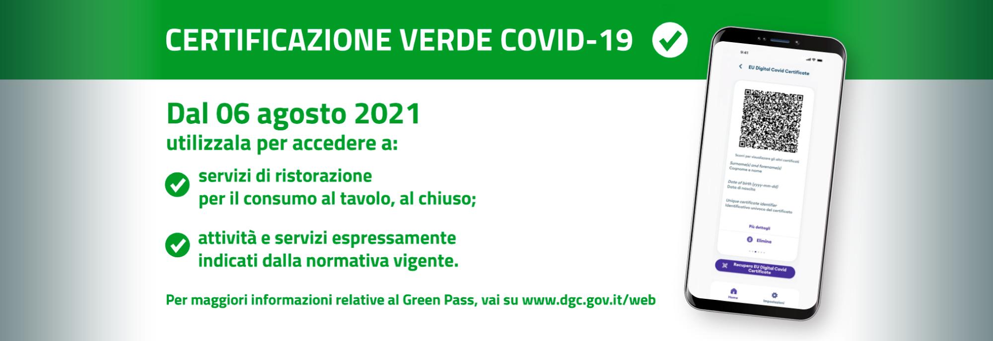 Comunicazione al Pubblico: Green pass