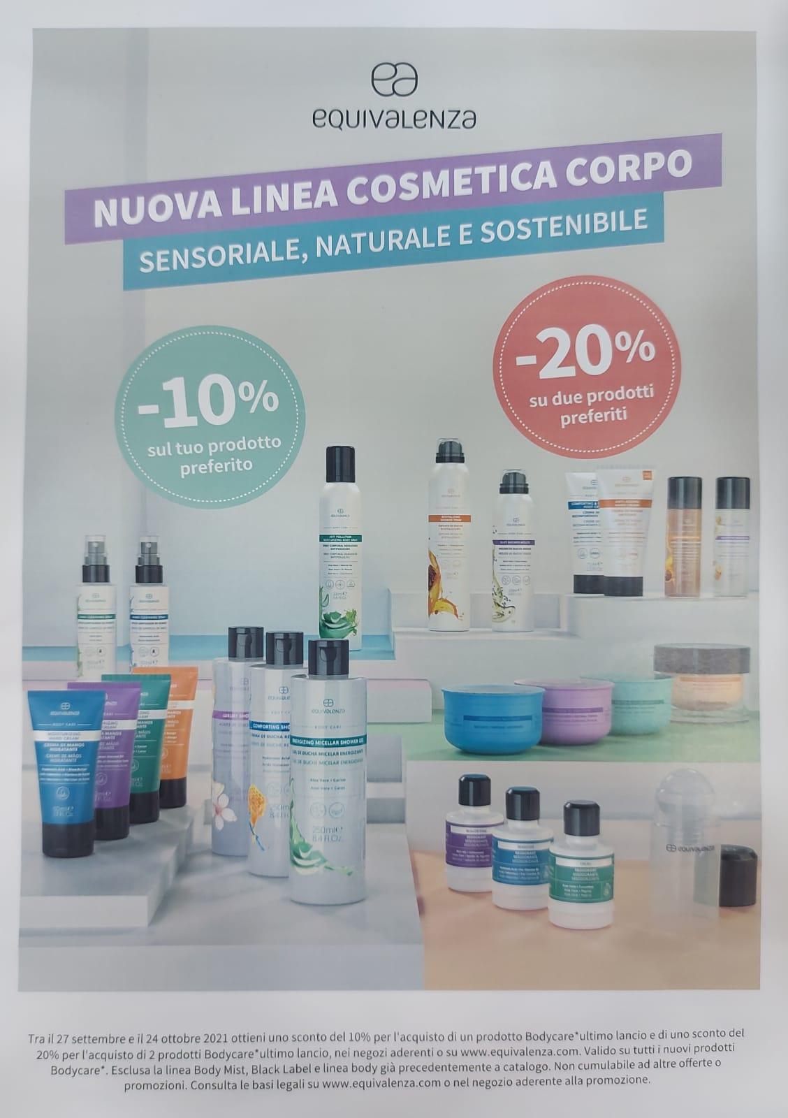 Equivalenza: nuova linea cosmetica corpo: Sensoriale, naturale e sostenibile