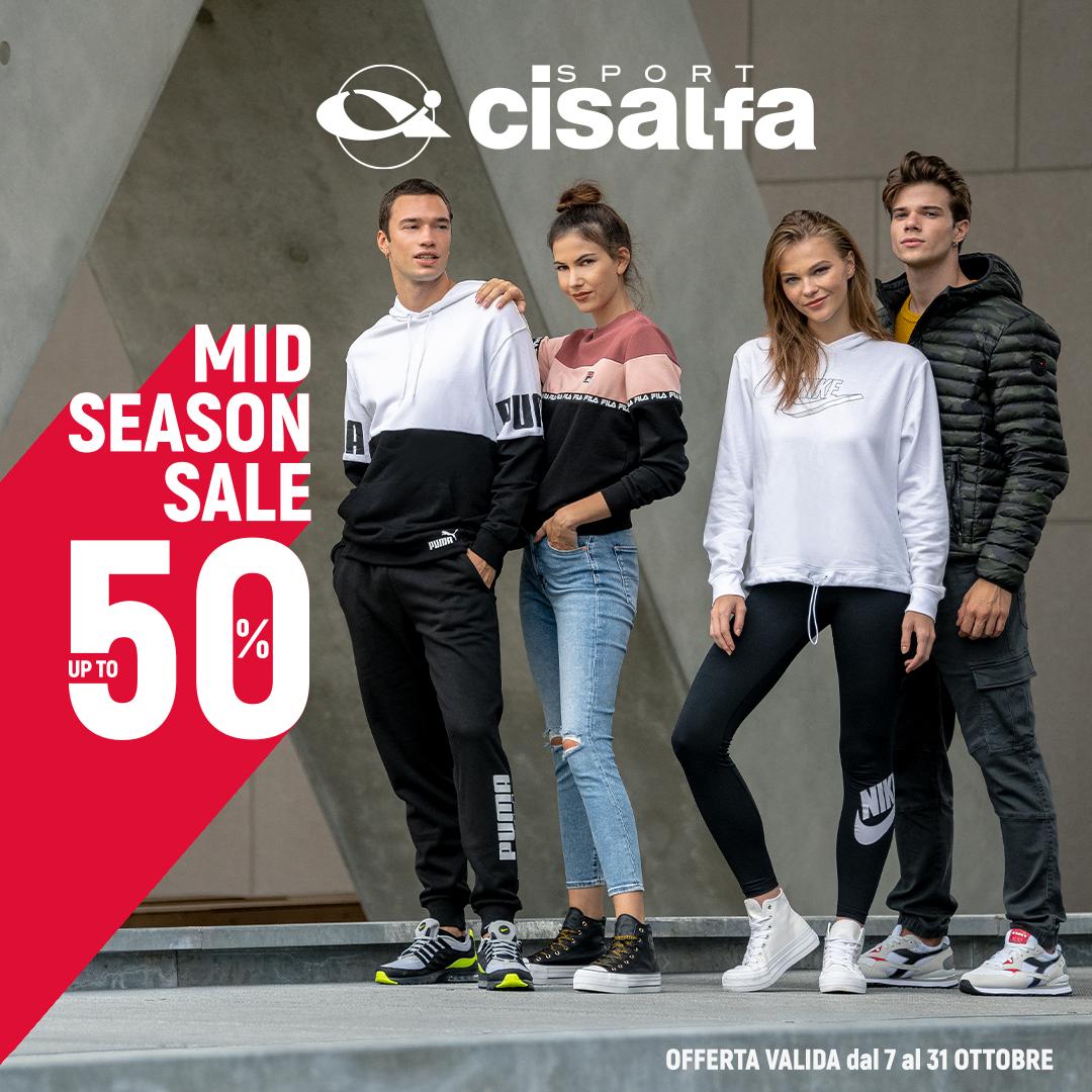 Cisalfa: MID SEASON SALE UP TO 50%